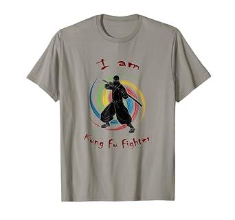 Amazon.com: Ninja KUNG FU fighter shirt martial arts ...