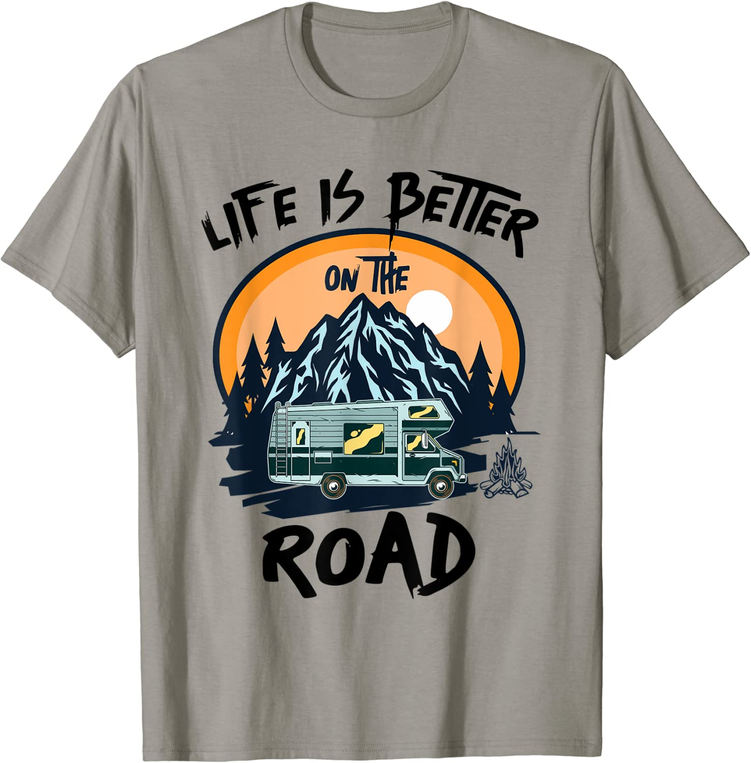 Life is Better on the Road 25% OFF Men Year-end gift Women Travel T-S Girls Boys and