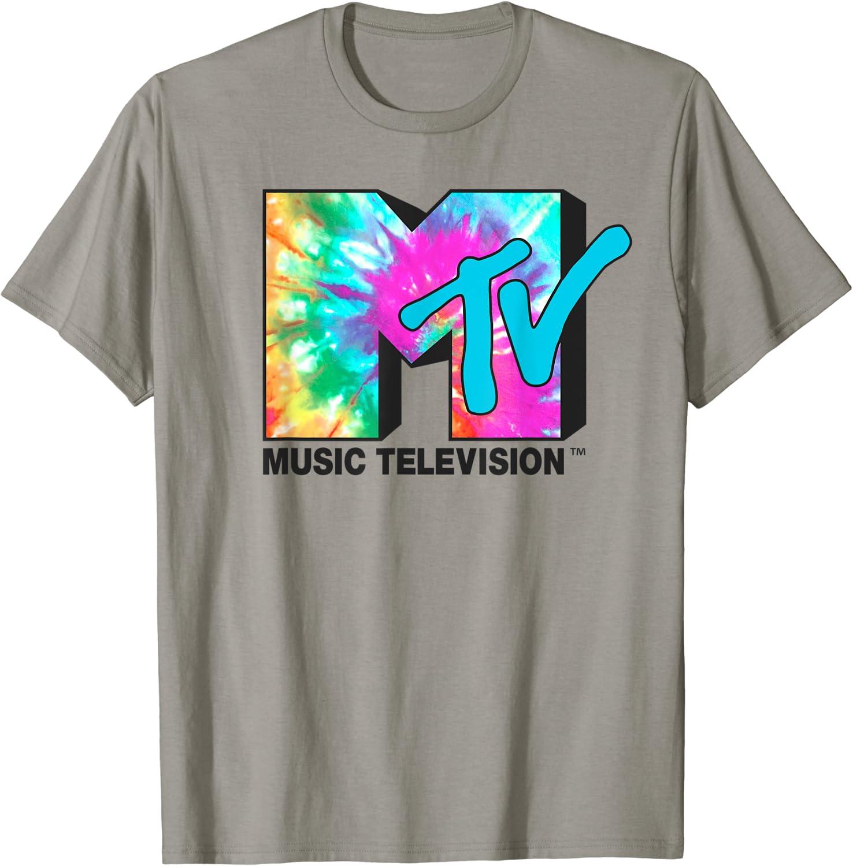 MTV Bright Rainbow Tie Dye Logo T-Shirt