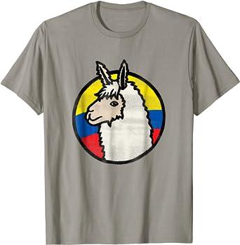 Funny Cute Alpaca Playera Bandera De Ecuador Animal Love Tee Hombre S Lemon Clothing