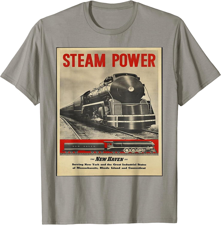 Steam Power Engine Train T-Shirt