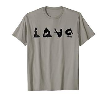 Amazon.com: Love Yoga Shirt:Funny Poses Yoga Lover Gift Tee ...
