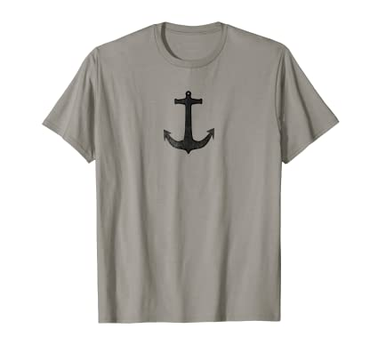 Anchor minimal nautical icon t shirt for fans of sea shore