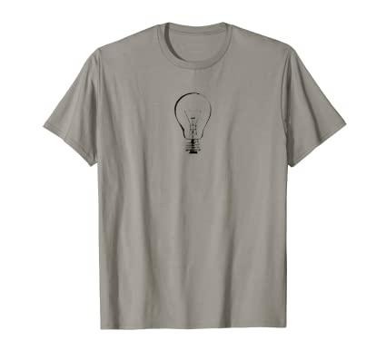 Light Bulb T shirt for science fans electricity enthusiasts