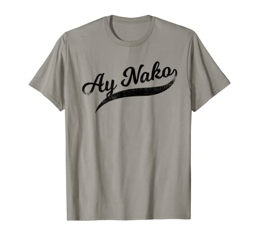 3086b821c Image Unavailable. Image not available for. Color: Funny Filipino T-Shirt - Ay  Nako OMG Tail Script Tee