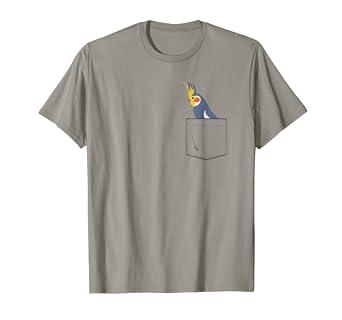 8ed67fd025c3 Amazon.com  Cockatiel Parakeet Parrot In Your Front Pocket T-Shirt ...