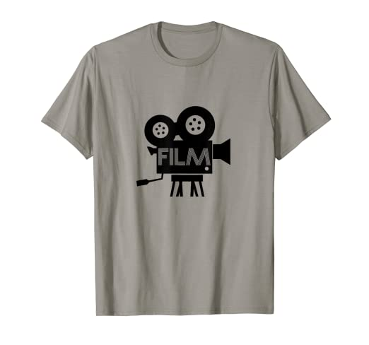 a87edf40 Image Unavailable. Image not available for. Color: Film Fanatic Graphic Tee  Cinema Movie Lover Retro T-Shirt