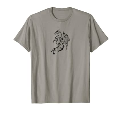 Dragon Three T Shirt for fans of asian mythological culture