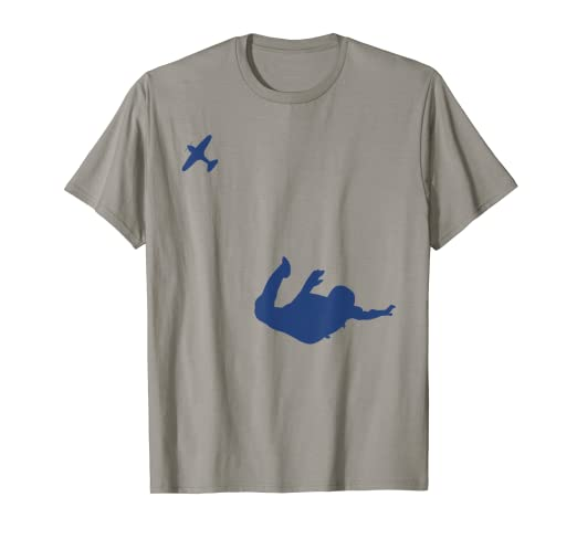 3d8a0c9a Image Unavailable. Image not available for. Color: Silhouette Skydiver  Skydiving T Shirt ...