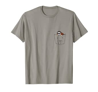 222df7c51 Amazon.com: Sloth in Pocket Cute Little Funny Animal T-Shirt: Clothing