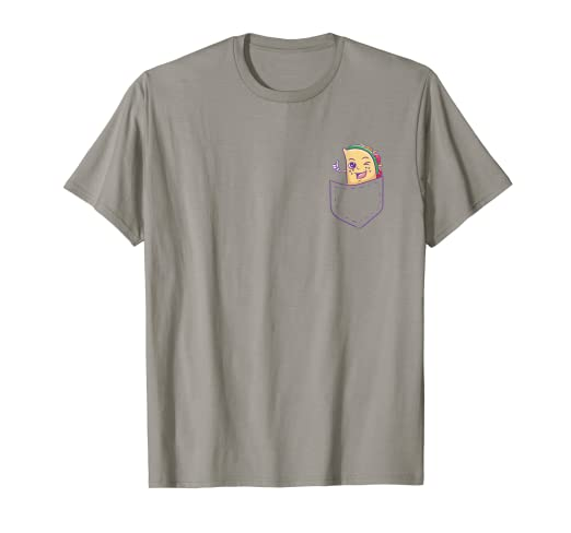 8fc41d6b Amazon.com: Taco In Pocket Shirt Cute Funny taco Lover Tee Gift ...