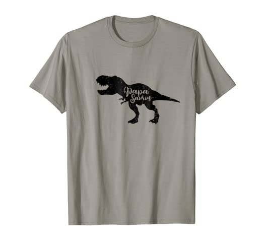 5e070086 Image Unavailable. Image not available for. Color: Papasaurus Rex Funny Dad  Dinosaur Retro Fathers Day T Shirt