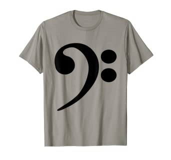 23a9a9b25 Amazon.com: Bass Clef T-Shirt Music Note Guitar Instrument Graphic ...