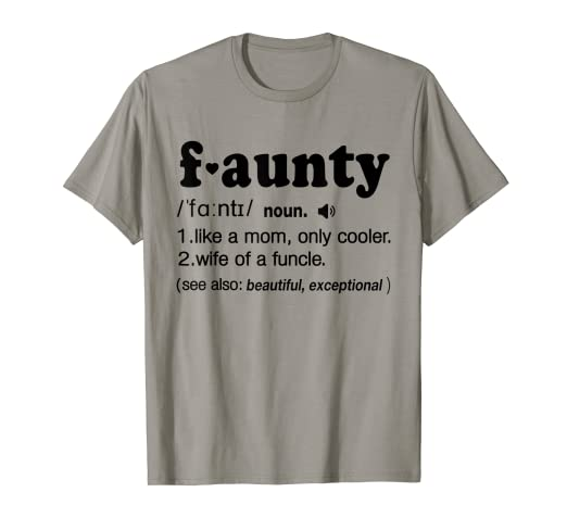 73527234 Image Unavailable. Image not available for. Color: Funny Aunt Faunt  Definition ...