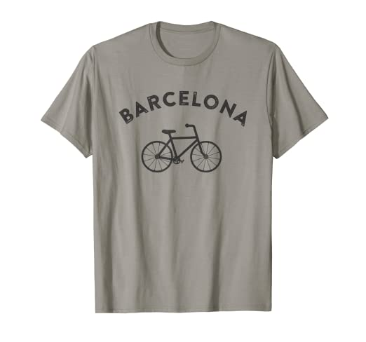Image Unavailable. Image not available for. Color  Barcelona T-Shirt City  Bike Retro Style Cycling Spain Tee 2c214682d
