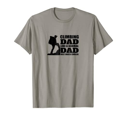 5f8d9e34a3 Image Unavailable. Image not available for. Color: Rock Climbing Dad  Definition T-Shirt Family Man ...