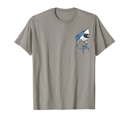 ff022cbea Amazon.com: Funny Shark Shirt Dripping Shark In My Pocket Cute T ...