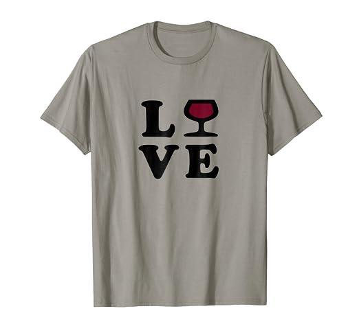 117d8c195 Amazon.com: I Love Wine T-Shirt - Funny Wine Shirt for Women & Men ...