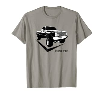 8ac763eaba9 Amazon.com  Squarebody T-shirt With Classic Square Body Truck  Clothing