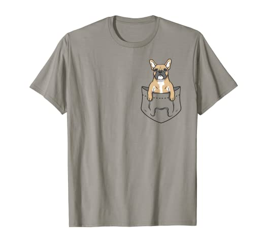 160547872c Image Unavailable. Image not available for. Color: Cool Funny Frenchie  French Bulldog Pocket Design T-Shirt