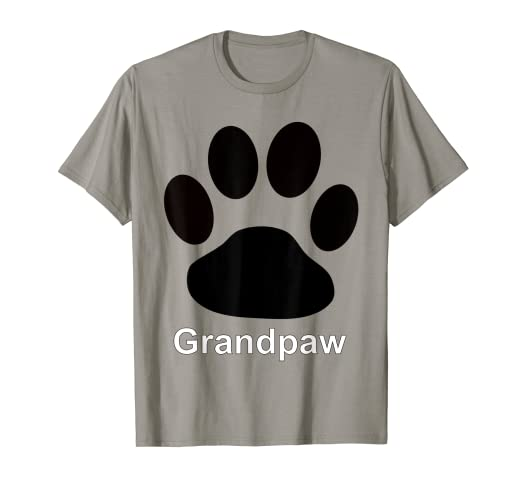 59f3b68e14ec Image Unavailable. Image not available for. Color: Grandpaw Large Dog Paw  Print T-Shirts