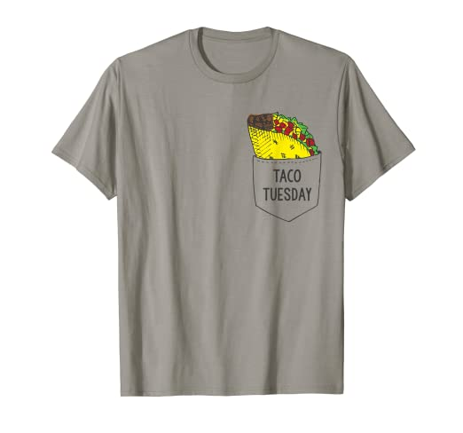 87c57debff Image Unavailable. Image not available for. Color: Taco In My Pocket T-shirt,  Taco Tuesday ...