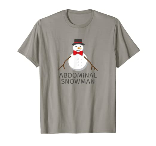 e97077b30bdf Image Unavailable. Image not available for. Color: Abdominal Snowman Shirt  Funny Christmas Sayings Holiday