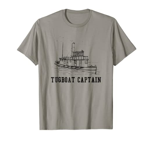 Amazon com: TugBoat Captain T-shirt: Clothing