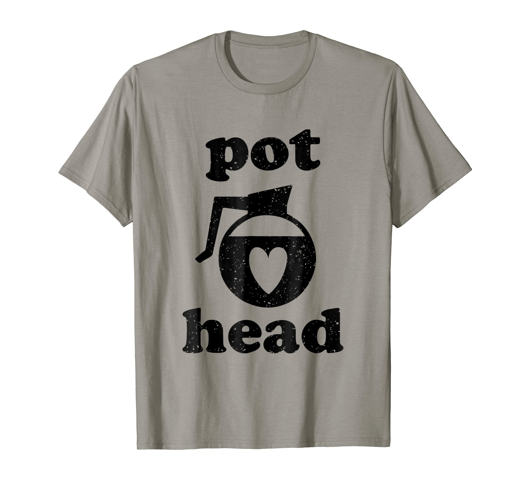 0af0bf2fc1a Amazon.com  Pot Head Coffee Shirt - Funny Coffee Lover T-Shirt  Clothing
