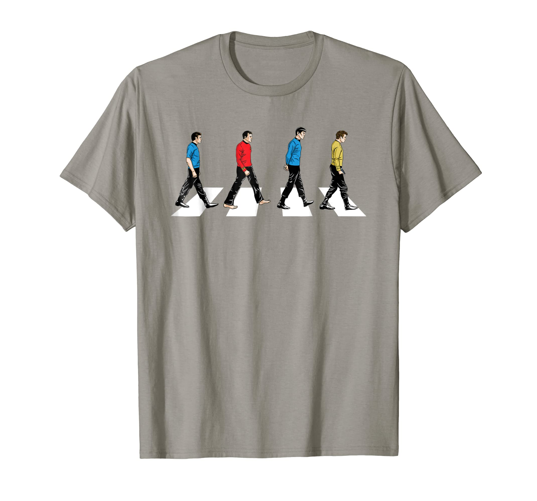 d74bf263f Amazon.com: Star Trek Tribute To The Beatles Abbey Road T-Shirt: Clothing