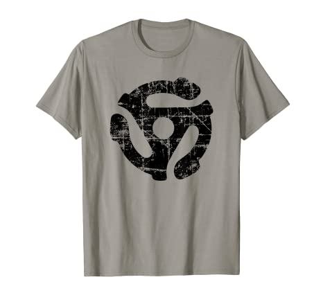 d3d4e9f31c6 Image Unavailable. Image not available for. Color  45 rpm Vinyl Record  Adapter (Vintage Black) Turntable Shirt
