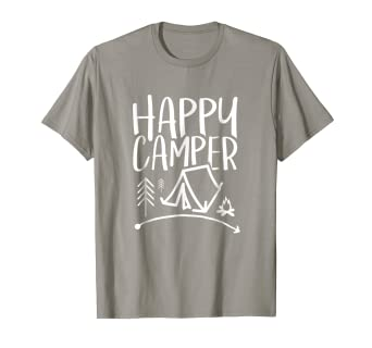 Amazon Com Happy Camper Camping T Shirt For Men Women And Kids
