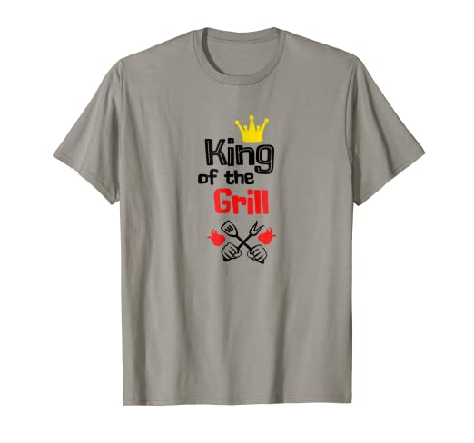 a4e11507 Image Unavailable. Image not available for. Color: Funny BBQ T Shirt King  Of The Grill Barbecue ...