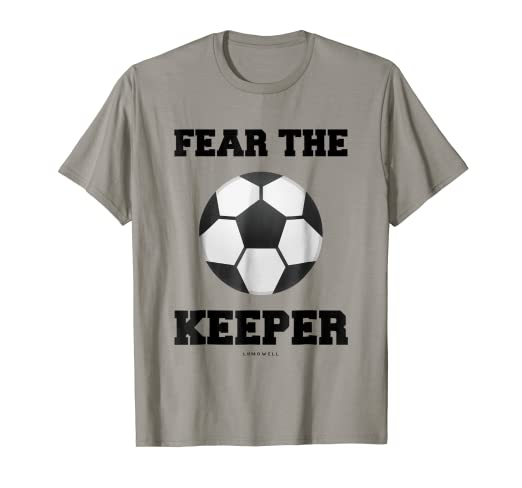 a769d53a3b8 Image Unavailable. Image not available for. Color: Funny Goalkeeper Shirts:  Fear The Keeper Funny Soccer TShirt