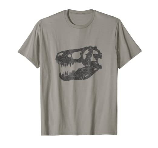 3de93ce06 Image Unavailable. Image not available for. Color: T-REX SKULL T-SHIRT  Tyrannosaurus ...