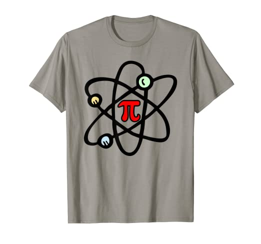 4fd6f95fef Image Unavailable. Image not available for. Color: Funny Atom Pi Day Science  Math Geek for Teacher T Shirt