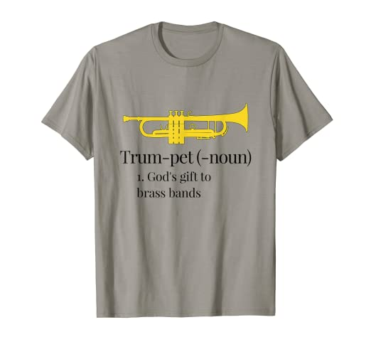 1f856103b Image Unavailable. Image not available for. Color: Funny Trumpet T-Shirt  God's gift ...