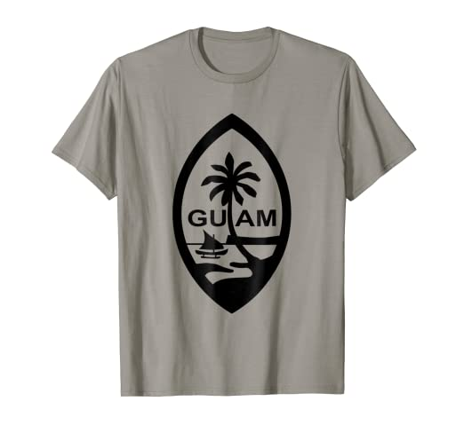 Amazon.com  Guam Seal Solid Black Silhouette On Light Colored Tee ... 9a1ef0172244