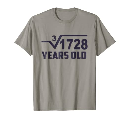 1461d2ba4 Image Unavailable. Image not available for. Color: Cube Root of 1728: 12 Years  Old Birthday T-Shirt Square Tee
