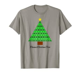 Amazon Com Fibonacci Christmas Tree Fun Math Holiday Tee Shirt