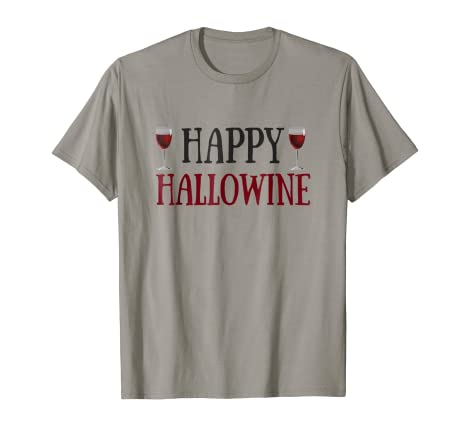 0646c3a7a Image Unavailable. Image not available for. Color: Happy Hallowine Shirt  for Women Men Funny Halloween Shirts