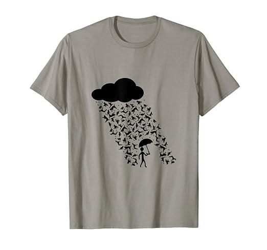 Amazoncom Funny Rainy Day Trouble Raining Cats And Dogs T