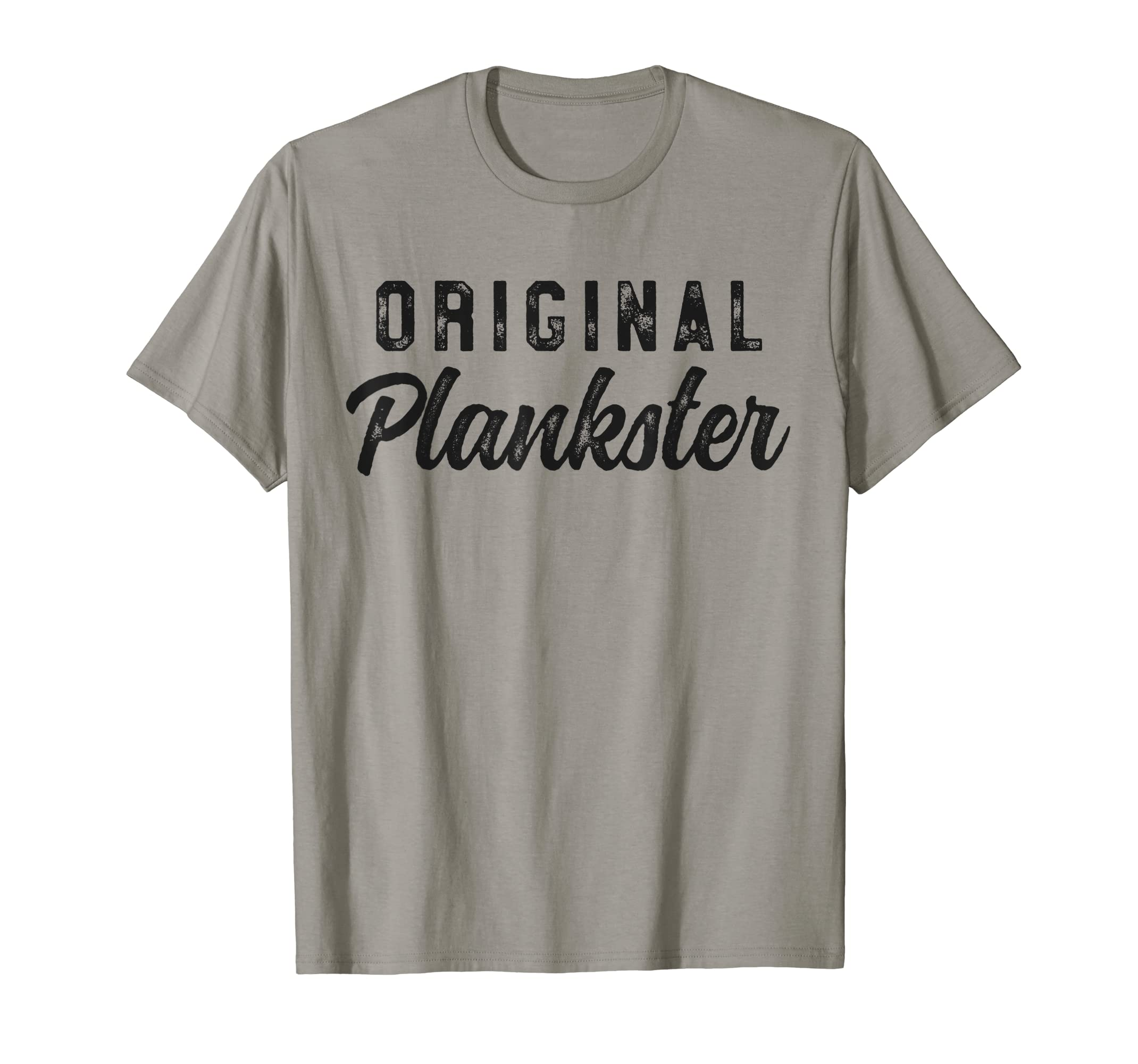 ed675e07 Amazon.com: Original Plankster Funny Pilates T-Shirt for Women Fitness:  Clothing