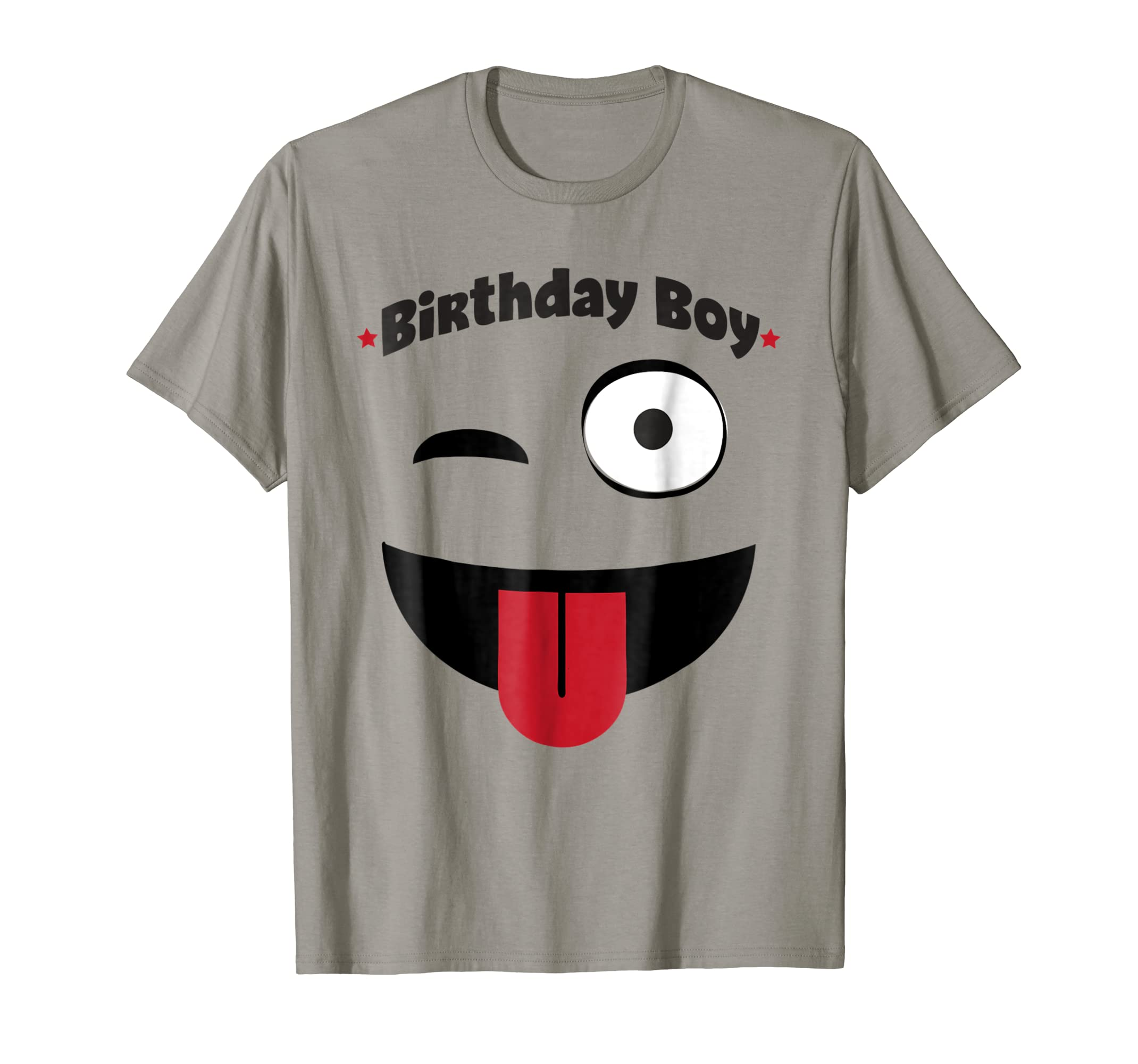 Amazon Emoji Birthday Shirt Boy Wink Tongue Out Tee Clothing