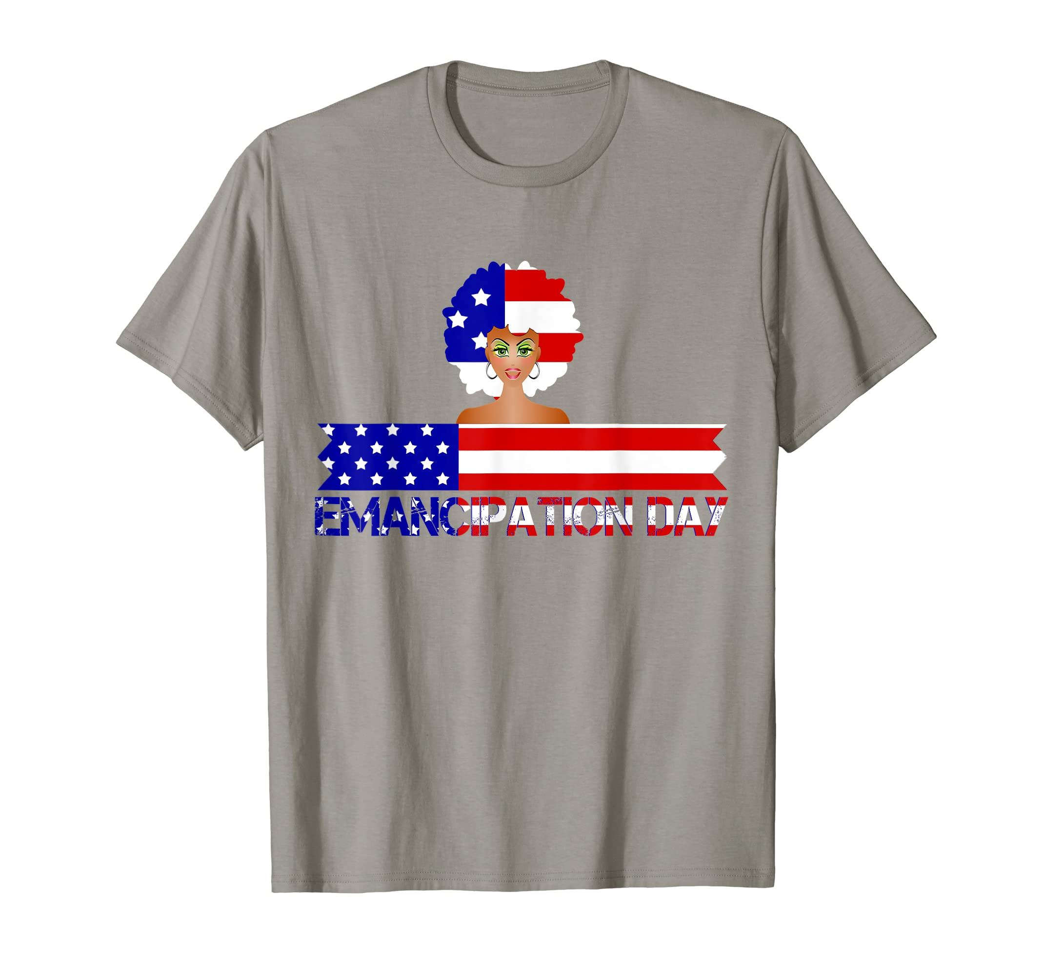 4th Of July Patriotic Emancipation USA Flag Tee-SFL
