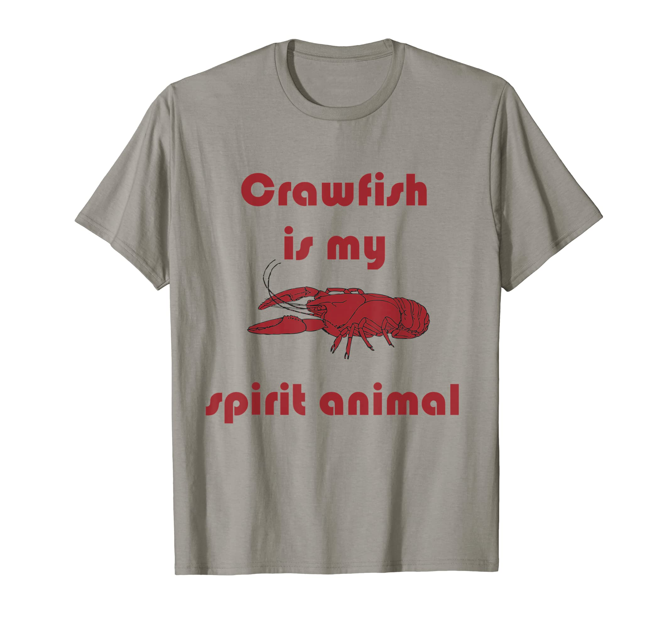 ba99f6f543 Amazon.com: Crawfish is My Spirit Animal Funny Louisiana Cajun Tee: Clothing