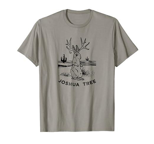 Amazon.com: Cute Desert Jackalope T-Shirt, Funny Joshua Tree ... on