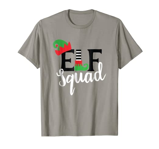 bade2611efb8f Family Christmas Matching T Shirts Holiday Group Elf Squad