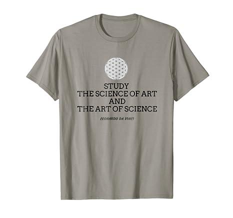 Amazoncom Art Science T Shirt Da Vinci Quote Clothing
