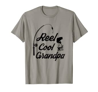 f10406d4 Amazon.com: Reel Cool Grandpa Shirts Ideas For Fathers Day Birthday ...